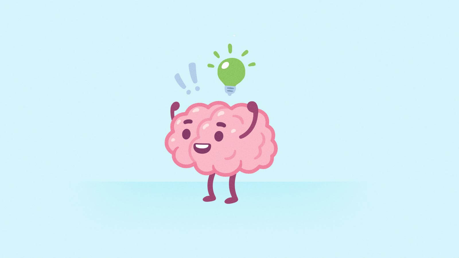 Illustration of a brain with a lightbulb